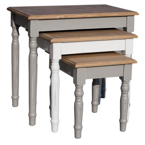 Provance  fenyőfa   asztal szett