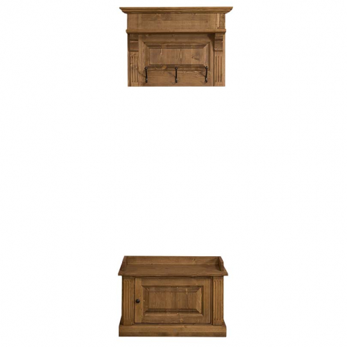 Provance  fenyőfa előszoba bútor, fali akasztó