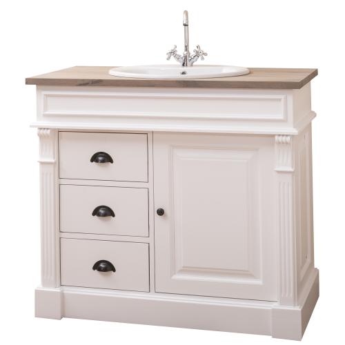 Provance fürdőszoba szekrény tölgyfa munkalappal