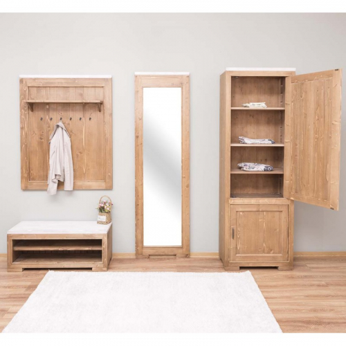 Provance  fenyőfa francia stílusú előszoba bútor szett