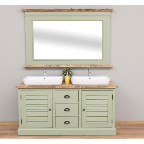 Provance fürdőszoba szekrény tükörrel