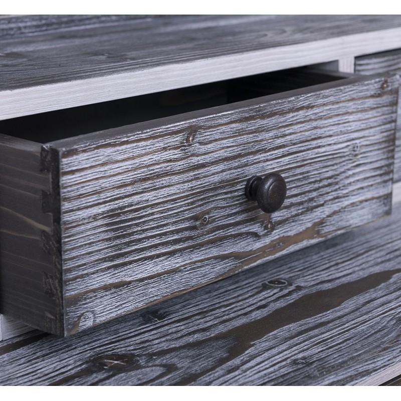 Provance fenyőfa francia stílusú előszobafal antikolt