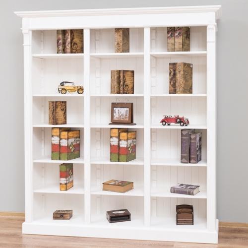 Provance  fenyőfa könyvespolc, szekrény