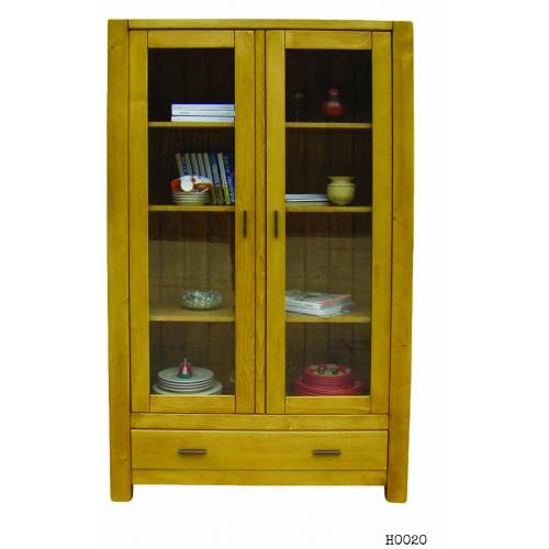 Heidi kétajtós vitrines szekrény