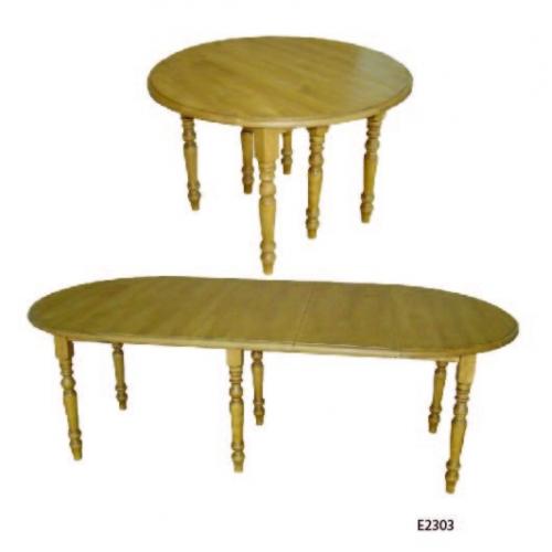 Edelweiss  fenyőfa kerek asztal