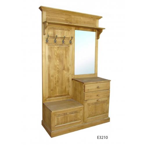 Edelweiss fenyőfa előszoba szekrény