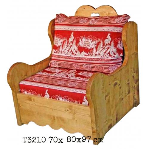 Tradició  népi fenyőfa fotel
