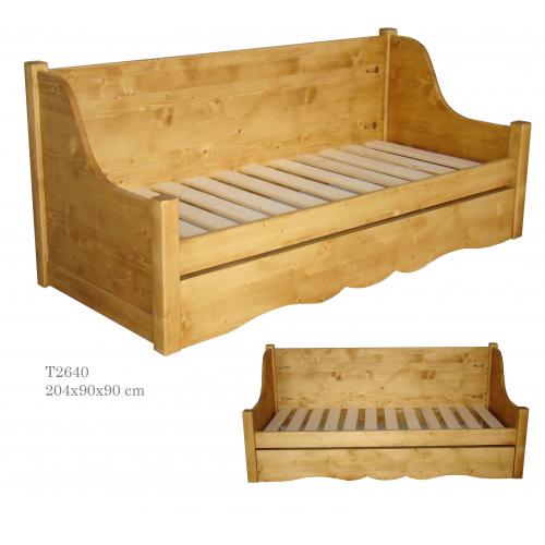 Tradició  népi fenyőfa kanapé