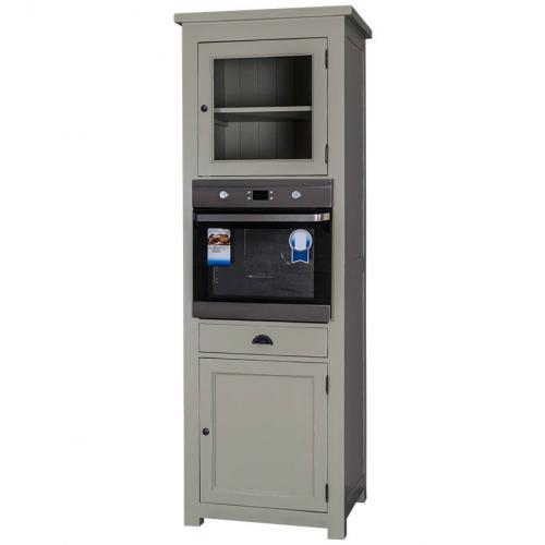 Provance elemes fenyőfa konyhabútor-magas szekrény beépíthető sütőnek