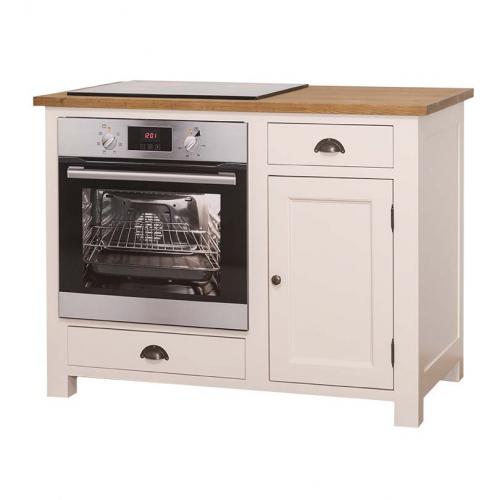 Provance elemes fenyőfa konyhabútor-alsó elem, beépíthető sütőnek
