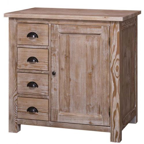 Provance elemes fenyőfa konyhabútor-alsó elem