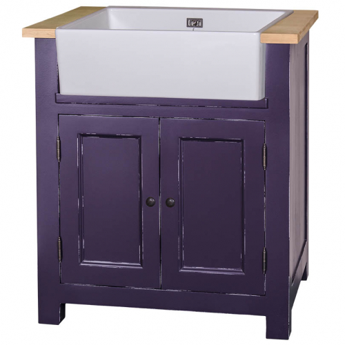 Provance elemes fenyőfa konyhabútor-alsó mosogató elem